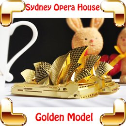 Wholesale New Year Gift P022 G Sydney Opera House D Model Music Building Kits Metal Puzzle DIY Nano Collection Toy Delicate Brain Game