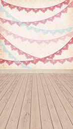 Pink Wallpaper Festival Decoration Background 5X7ft Wedding Vinyl for Photograhy Studio Decor Props Children Backdrop