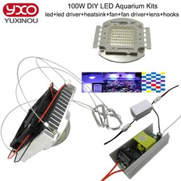 Wholesale 1pcs W Aquarium Light for Coral diy w Multichips Led Aquarium Led Chip best for marine Fish Tank for Coral Reef Growing