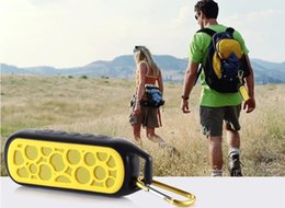 Wholesale Waterproof Shockproof Bicycle mini speaker Hands free MP3 player FM call back card reader Portable Music Box on bike bicycle DHL free