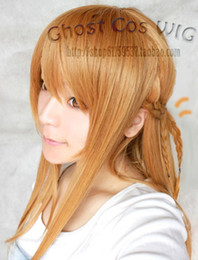 Perruques de haute qualité en ligne à vendre-100% perruques de cheveux Brand New Haute Qualité Mode Photo Hot! Épée d'Art en ligne / Asuna long Châtain Parti cosplay perruque
