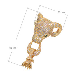 Brass Fold Over Clasp Sheep Plated Micro Pave Cubic Zirconia More Colors For Choice Nickel Lead & Cadmium Free 58x32mm