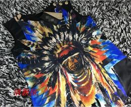 Wholesale 2016 new sleeveless T shirt printing Indian chief Black Ladies vest