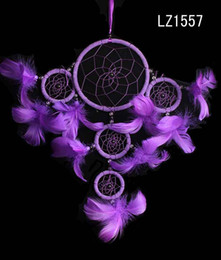 Wholesale India Style Lovely Handmade Dream Catcher with Rings Feathers Hanging Decoration Gift Dreamcatcher