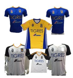 Wholesale 2016 Tigres UANL stars Yellow Blue soccer jersey Pumas Monterrey thai quality Tigers UANL home away Third GUERRON football shirts