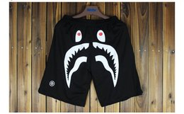 Wholesale Hot hip hop men brand casual shorts shark print black nets sport short basketball running trousers
