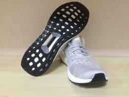 Wholesale 2016 UK Trainers Ultra Boost UNCAGED On Feet Running Shoes BA8296 Metallic Silver Grey White Ultra Boost Shoes Sports Shoes Hypebeast X