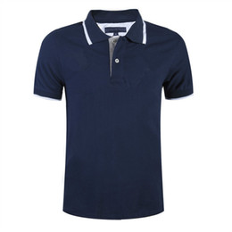 Wholesale Contrast Dress Men - 2016 Men Polo Shirt Dress With Short Sleeves 100% Cotton Stitching Color Shirt Casual Wear Polo Shirt Cotton Sportswear Breathable