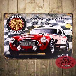 Wholesale Original Metal Signs Co Austin Healey Mk III BJ8 Rally Ad Garage Pub Bar Home Wall Decor
