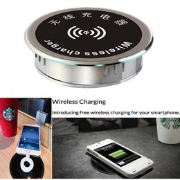 Wholesale Furniture Desktop Office Coffee Table Qi Wireless Charger Charging Dock Pad For iPhone Galaxy S6 S5 S4 S3 NOTE Nexus Lumia
