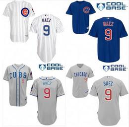 Wholesale 2016 newcomer Javier Baez Jersey Chicago Cubs Javier Baez Authentic Jersey Baseball Jersey men sewed size M XXXL