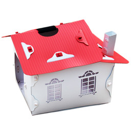 Wholesale REAMIC Pet luxury villa green environmental protection new composite material can be disassemble pet Lodge white and red