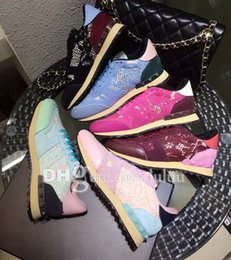 Wholesale brand new Excellent quality designer to win the favor lace celebrity super nice color Advanced absorbent cloth flat casual shoes