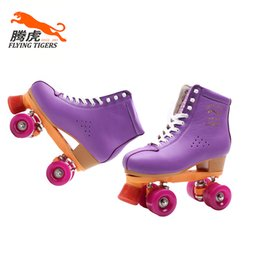 Wholesale Flying Tigers Quad Roller Skates FT520 purple Classic For Outdoor Skating Rental Rink Skater Center Factory