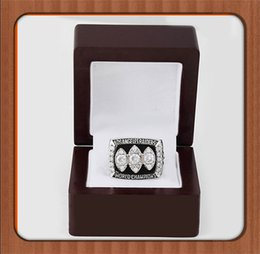 Wholesale Gorgeous Wooden Boxes With Los Angeles Raiders Replica Super Bowl Copper High Quality Championship Ring For Best Gift