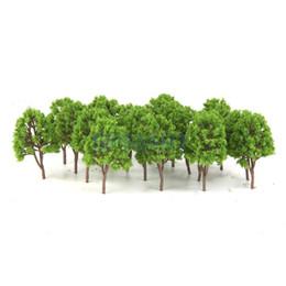 Wholesale-20pcs Plastic Model Trees N Scale Train Layout Wargame Scenery Diorama 7.5cm