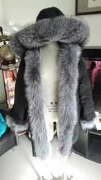 Wholesale M44 Jacket parkas for women winter jacket long warm woman jackets anorak women coats with real fox fur hood parka