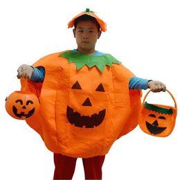 Wholesale Dresses Special Mascot Costumes Adults Kids Halloween Pumpkin Costume Hat Suit Theme Uniform Overalls Cap Party Clothing Props mc0354
