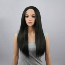 Long 85cm Heat Resistant Long Straight Black Women Fiber Fashion Synthetic Lace Front Wig Natural Lace Wigs Free shipping