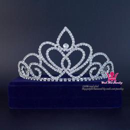 Rhinestone Crowns Beauty Pageant Queen Medium Bridal Wedding Crystal Headband Princess Pretty Girls Party Show Prom Hairwear 01644