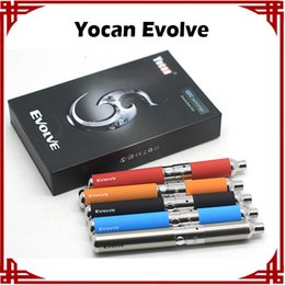 Yocan Evolve Evolve D E Cigarette Kit Wax Pen Kit Quartz Dual Coils Evolve Vaporizer 5 Colors Starter Kits