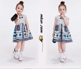 Wholesale 2016 Baby Clothing Print dress Girls Europe United States printing atmospheric princess sleeveless printing dress