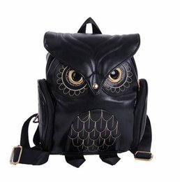 Wholesale 2016 Girl s Pu Leather Owl Cartoon Backpack School Cute Mini Bags ForTeenagers Girls Kids