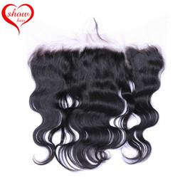 18 black hair à vendre-Dentelle Frontal Fermeture brésilienne Ear péruvienne indienne Malaysian cambodgienne Cheveux Couleur naturelle 13x4 noir de pouce à l'oreille Frontal