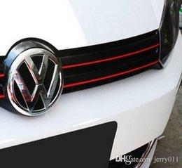 Wholesale MK6 GTI Gli Styling Red Line Reflective PVC Car Sticker Front Grille Trim Strip For Volkswagen VW Jetta Golf VI Golf6 Polo