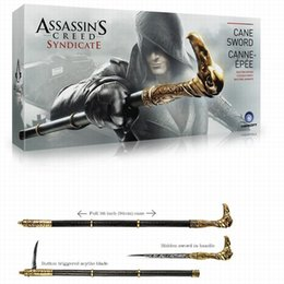 Wholesale NECA Assassin s Creed Syndicate Sword Cane Cosplay Weapon Jacob Frye Cane Hidden Blade Boxed PVC Action Figure Model Toys