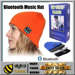 Wholesale Bluetooth Hat Soft Warm Beanie Cap Stereo wireless Headphone Headset Speaker Microphone handfree for iPhone plus samsung note s7 edge