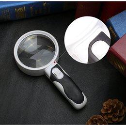 Promotion à double lampe de lecture Gros-20 fois haute définition double miroir lumineux de bande optique lecture 100mm loupe verre antique