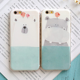 Wholesale Iphone6 mobile phone shell splus silicone sleeve s Apple soft shell relief art cute cartoon female models Japan and South Korea