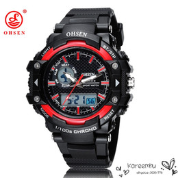 Wholesale Sport Watch For Diving Swimming - OHSEN Brand New Analog Digital LED Military Watch Relogio Masculino Wristwatch Waterproof Dive Swim For Men Sports Watches