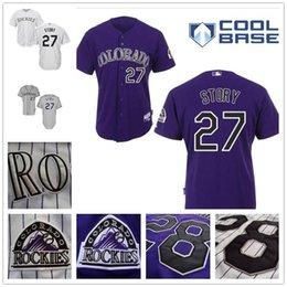 Trevor Story Jersey,Colorado Rockies Jerseys 27 Trevor Story Jerseys White Purple Grey size small s - 4xl cheap cheap cheap