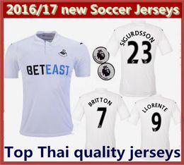 Wholesale Best thai quality new Swansea City CITY soccer Jerseys Swansea City Home SIGURDSSON LLORENTE BRITTON BORJA soccer football shirt