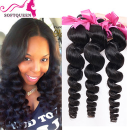 Wholesale Best Brazilian Loose Wave Human Hair a Cheap Brazillian Hair Bundles Peruvian Malaysian Indian Loose Wavy Hair Extentions