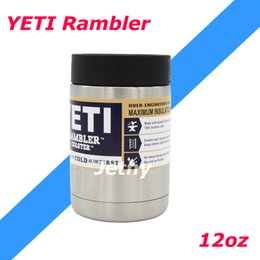 Wholesale NEW Yeti Rambler Colster KOOZIE oz Can Bottle Cold Stainless Steel Can of Air Rtic Rambler Ozark tail Rambler
