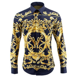 Wholesale-NEW 2016 Mens Brand Shirt ,Architecture Printing Casual Shirt,Men's Dress Shirts Long Sleeve Cotton Luxurious Tuxedo Shirt