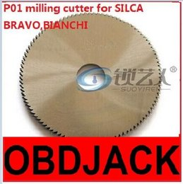 Wholesale Original Raise High speed steel double angle cutter P01 milling cutter for SILCA key cutting machine BRAVO BIANCHI locksmith