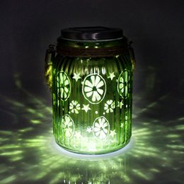 Wholesale Christmas Decoration Solar Table Light LED Garden Lights Sunshine Mason cans Glass Bottles Wedding Decoration Romantic Birthday Gift