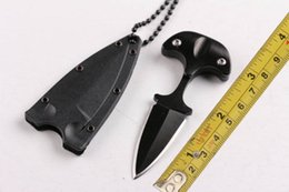 Wholesale New Cold Steel Safe Maker Push Dagger Knife Mini Fixed blade knife Full tang stainless steel knife knives with sheath