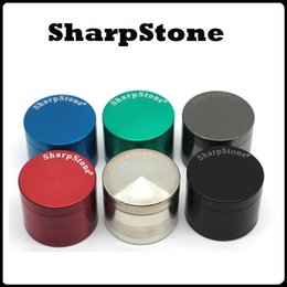 Wholesale Newest Concave Grinders With Sharpstone Logo mm Herb Grinders Layers Metal Grinders Zinc Alloy Concave Surface Tabacco Grinder