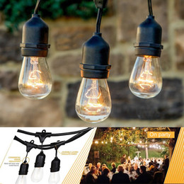Wholesale E26 E27 String Lights with Hanging Sockets feet LED Weatherproof string light christmas outdoor cafes lights holiday yard party lights