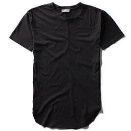 Wholesale 2016 Summer Fashion Hip Hop Men Cotton Short Sleeve Zipper Round Bottom T Shirt Blank
