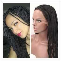 Wholesale Hair Wigs Kinky TWIST Braided Wig Senegalese SINGLE Twist Lace Front Wig Braid Synthetic Braided Lace Wig