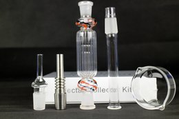Wholesale Mini Nectar Collector Kits Glass Hookah Pipe Kits for Hookah Lounge with Bargain Price with mm mm joint