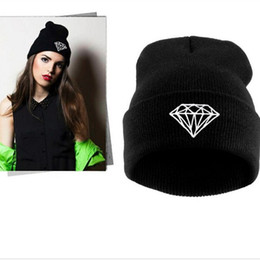 New recommend women fashion winter solid color diamond pattern knitting hats designer men outdoor warm wool caps Christmas gifts wholesale