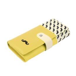 Women Wallets PU Leather Cute Leatheroid Moustache Beard Zipper Purse Long Wallet Card Holder Hot Selling