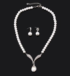 Wholesale Han edition necklace bridal jewelry pearl sets foreign trade Korean wedding the bride adorn article suit